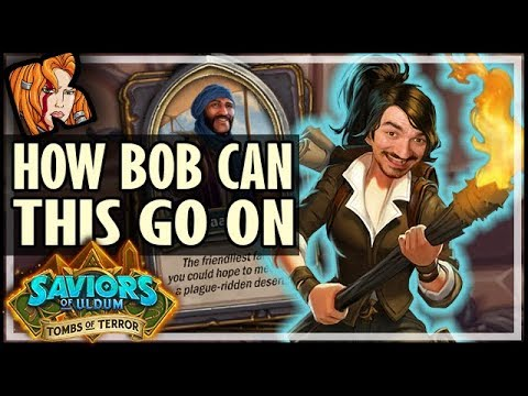 INFINITE VIP TAVERNS?! BOB'S DECK? NO TY! - Tombs of Terror Heroic Hearthstone