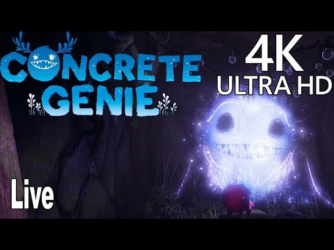 Concrete Genie - Full Gameplay Walkthrough Live No Commentary [4K]