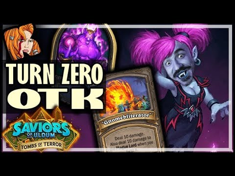 TURN ZERO OTK ONE SHOT?!  - Tombs of Terror Heroic Hearthstone