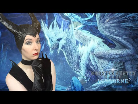 Maleficent VS Ice Queen! - Velkhana Hunt - Monster Hunter World Iceborne Gameplay