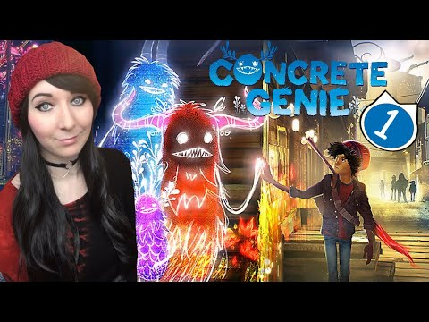 This game is THE CUTEST! - Concrete Genie Long Play Walkthrough Gameplay Part 1