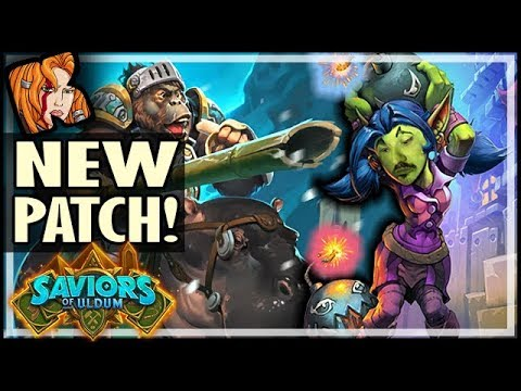 NEW ARENA PATCH! TONS OF CLASS CARDS! - Saviors of Uldum Hearthstone