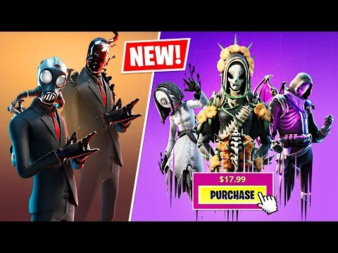 New SLENDERMAN and FINAL RECKONING PACK Skins! (Fortnite Halloween 2019)