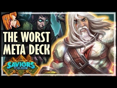 CRUSHING WITH THE *WORST* META DECK?! - Saviors of Uldum Hearthstone