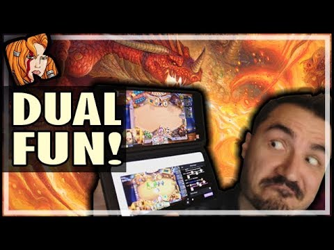DUAL SCREENS FOR MY DUAL CLASS ARENAS?! - LG G8X ThinQ Dual Screen Phone - Hearthstone