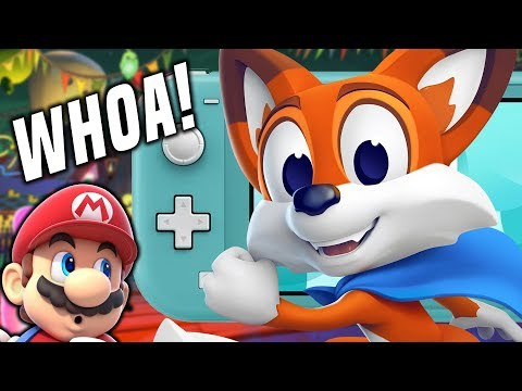 Can This NEW Switch Game Compete With Mario?! (New Super Lucky's Tale Switch)