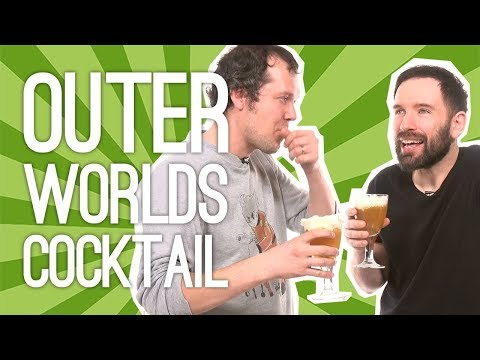 The Outer Worlds Concentrated Distillate Cocktail: We Mix an Outer Worlds Cocktail w/Cider, Vodka 🚀