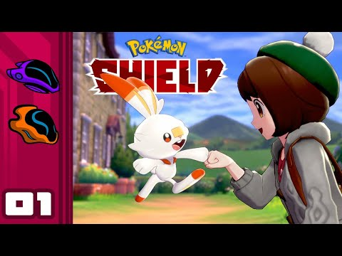 Let's Play Pokemon Shield - Switch Gameplay Part 1 - Scorbunny, I Choose You!