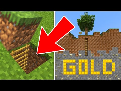 I found a SECRET GOLD MINE in Minecraft!!