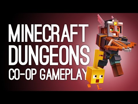 Minecraft Dungeons Gameplay: Enderman Boss! Treasure Pig! (Let's Play Co-op Minecraft Dungeons)