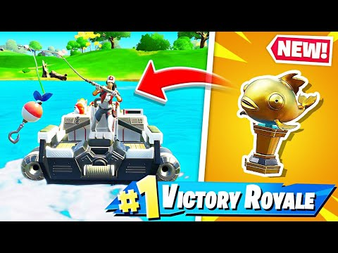 New TRIGGERFISH Skin and MYTHIC GOLDFISH Fishing! (Fortnite Battle Royale)