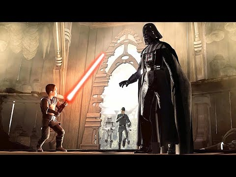 Darth Vader Saves Child From Stormtroopers Scene - Star Wars The Force Unleashed