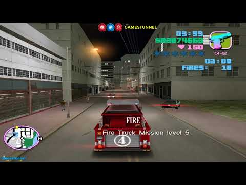 🔴 The Criminal Firefighter in Miami Challenge — VC Firefighter Missions ► GTA Vice City
