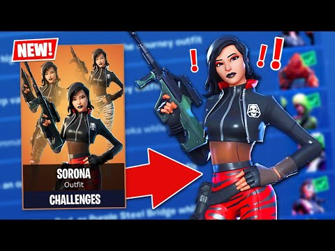 New CHAPTER 2 SORONA SECRET SKIN Challenges! (Fortnite Battle Royale)