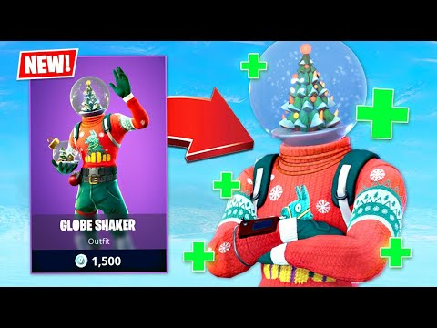 SIPHON IS BACK!! New Globe Shaker Christmas Skin! (Fortnite Battle Royale)