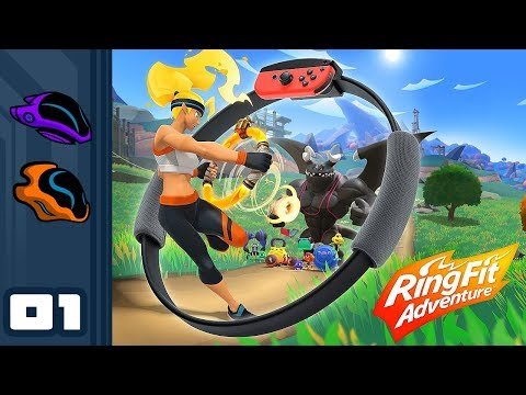 Let's Play Ring Fit Adventure - Nintendo Switch Gameplay Part 1 - ABSOLUTE FITNESS