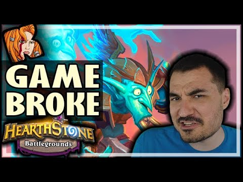 GAME BROKE! SEND HALP! - Hearthstone Battlegrounds