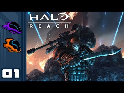 Let's Play Halo Reach [Co-Op Campgain] - PC Gameplay Part 1 - Noble Actual