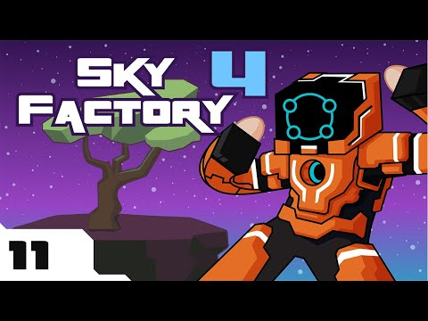 Let's Play Minecraft Sky Factory 4 Modpack - Part 11 - Who Wants To Drink A Donut?