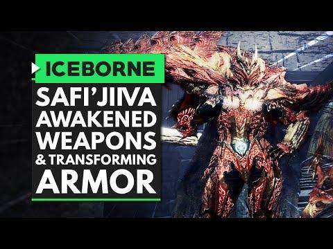 Monster Hunter World Iceborne Safi Jiiva Awakened Weapons