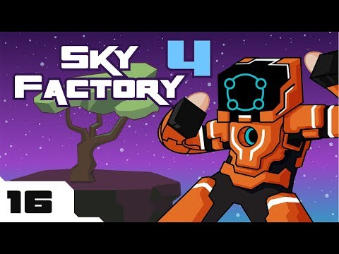 Let's Play Minecraft Sky Factory 4 Modpack - Part 16 - Diving Headfirst Into Tinkering!