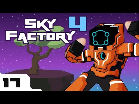 Let's Play Minecraft Sky Factory 4 Modpack - Part 17 - COW IN A JAR?!