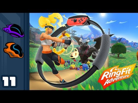 Let's Play Ring Fit Adventure - Switch Gameplay Part 11 - Endurance Run