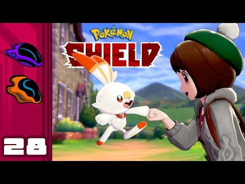 Let's Play Pokemon Shield - Switch Gameplay Part 28 - WHY WON'T YOU GET IN MY BALL?!