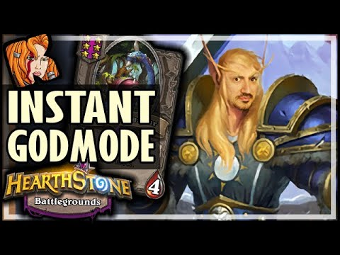 INSTANT GODMODE IN BATTLEGROUNDS! - Hearthstone Battlegrounds