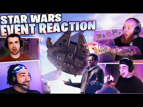 STREAMERS REACT TO STAR WARS FORTNITE EVENT!! FT. NICKMERCS, DRLUPO, COURAGEJD & CLOAKZY