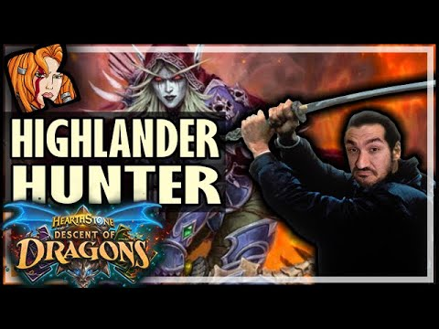 NEW RUSH + HIGHLANDER HUNTER! - Hearthstone Descent of Dragons