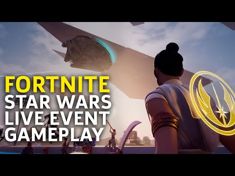 Fortnite Event - Star Wars Exclusive Scene And Massive Lightsaber Battle Gameplay