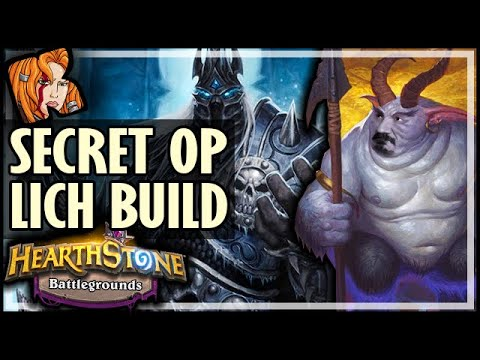 SECRET OP LICH KING BUILD?? - Hearthstone Battlegrounds