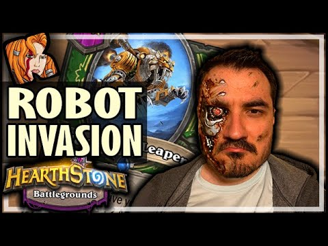 ROBOTS INVADE BATTLEGROUNDS! - Hearthstone Battlegrounds