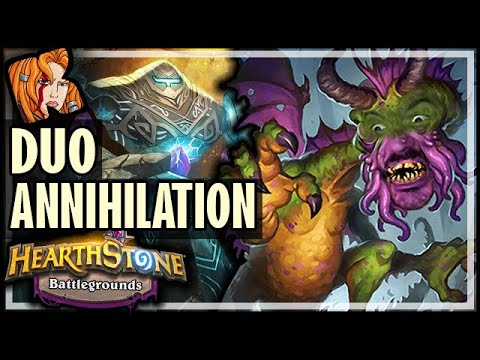 BATTLEGROUNDS DUO ANNIHILATION! - Hearthstone Battlegrounds