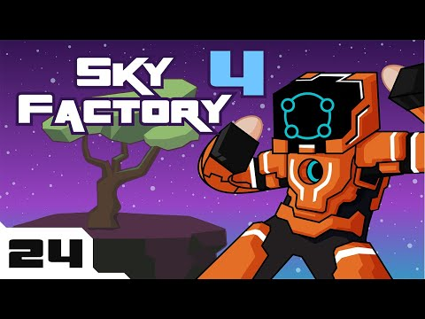 Let's Play Minecraft Sky Factory 4 Modpack - Part 24 - Tankbot