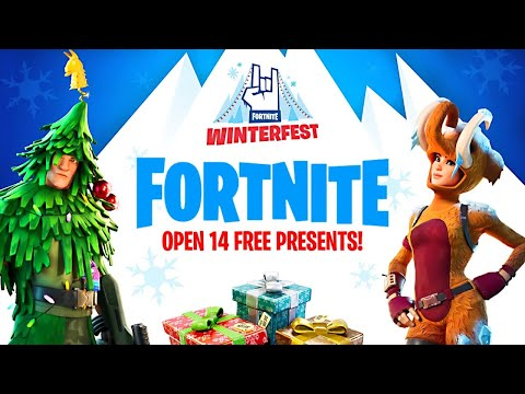 OPENING WINTERFEST PRESENTS!! (Fortnite Battle Royale)