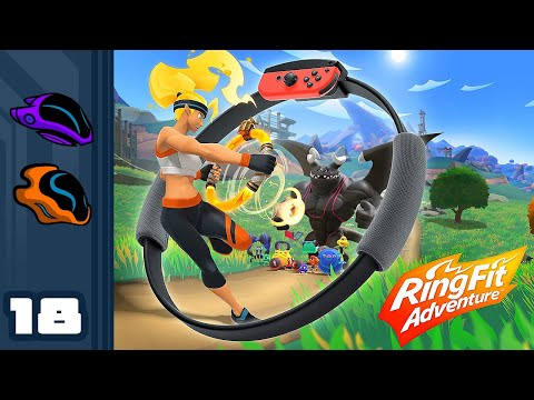 Let's Play Ring Fit Adventure - Switch Gameplay Part 18 - Time To Climb Mt Exhaustion Again...