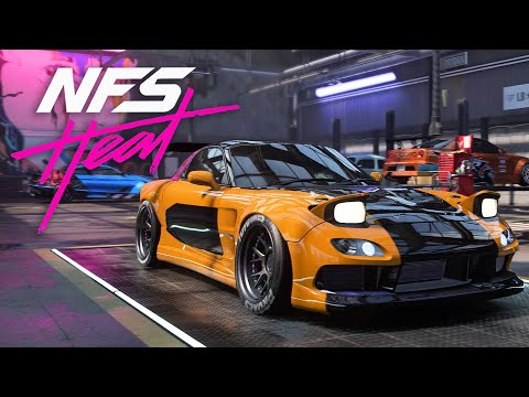 THE BEST DRIFT CAR - MAZDA RX-7 BUILD - NEED FOR SPEED HEAT Gameplay Walkthrough Part 30