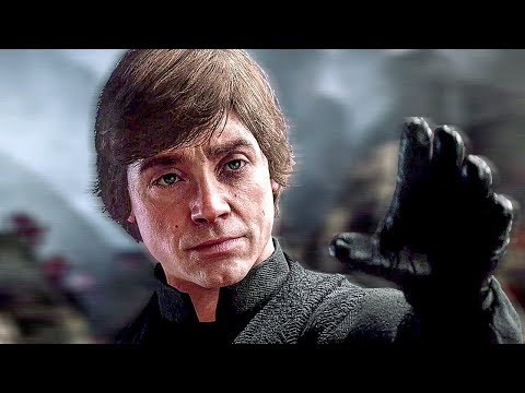 Luke Skywalker Becomes Friends With Galactic Empire Soldier Scene - Star Wars Battlefront 2