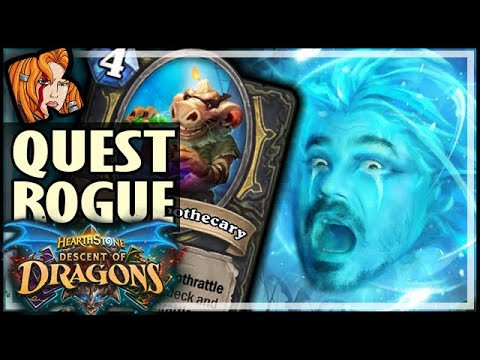 QUEST ROGUE 2.0?! - Descent of Dragons Hearthstone