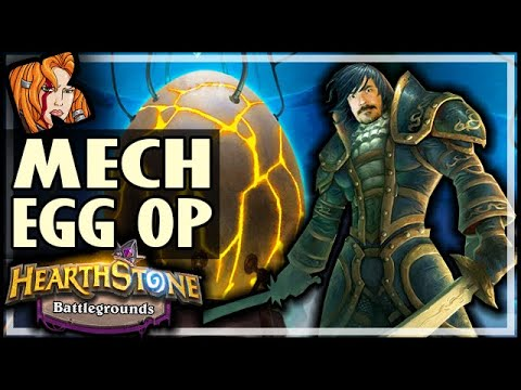 MECH EGG = SLEEPER OP! - Hearthstone Battlegrounds
