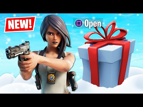 New FBI DETECTIVE Skin OPENING PRESENTS!! (Fortnite Battle Royale)