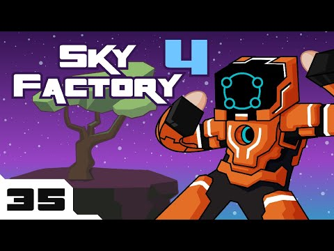 Let's Play Minecraft Sky Factory 4 Modpack - Part 35 - Infinite Ammo!