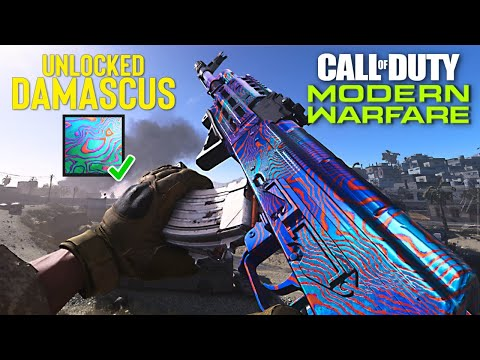 Unlocking DAMASCUS CAMO in MODERN WARFARE!!