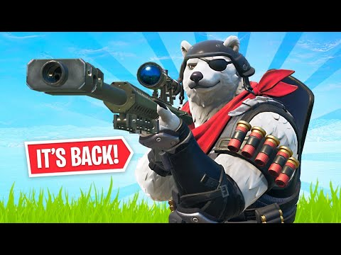 Heavy Sniper Unvaulted + New Polar Patroller Skin! (Fortnite Battle Royale)