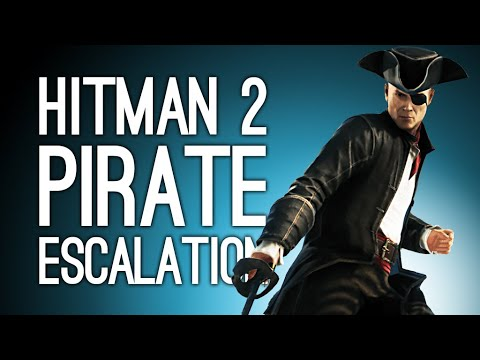 Hitman 2: TREASURE HUNT PIRATE ESCALATION! (Let's Play Hitman 2 - The Bartholomew Hornswoggle)