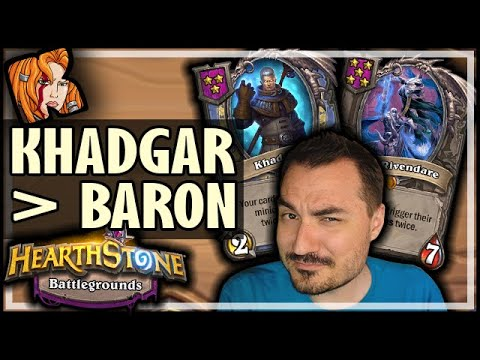 KHADGAR OVER BARON?! - Hearthstone Battlegrounds