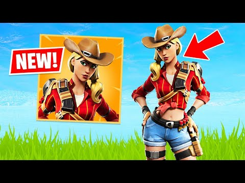 New Cowgirl Rustler & Cowboy Wrangler Skins! (Fortnite Battle Royale)
