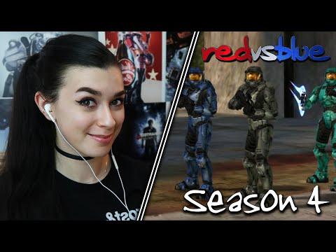 MAKING A NEW FRIEND?... | Red vs. Blue Reaction | Season 4 | EP 1-7